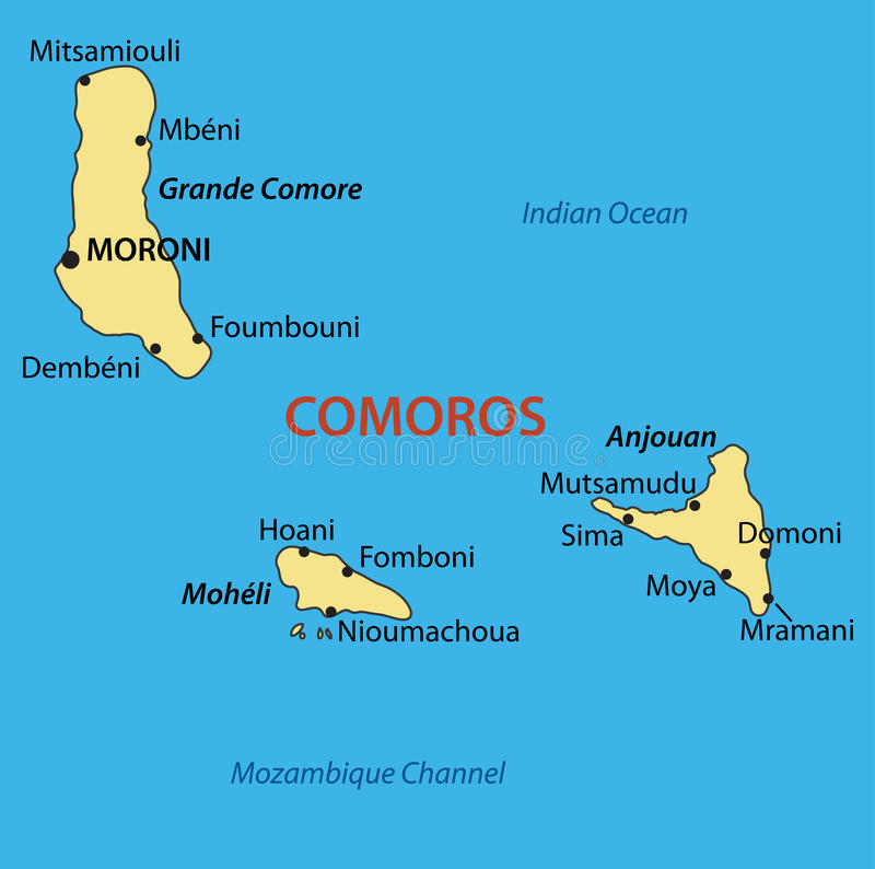 download union of the comoros vector map stock vector illustration of comoros geographic