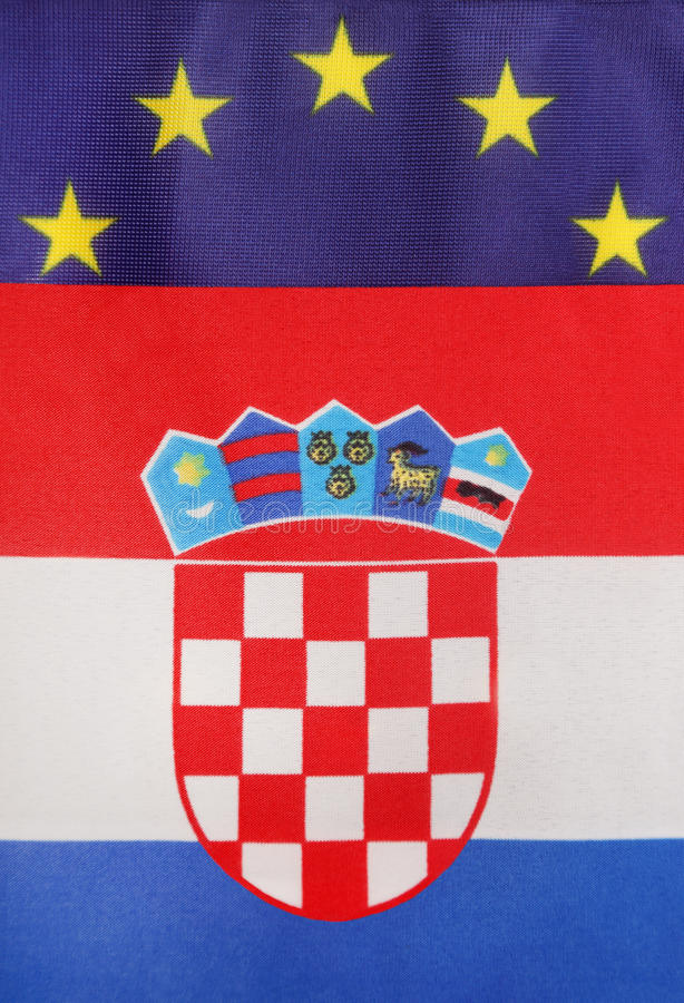 Union croate et européenne images stock