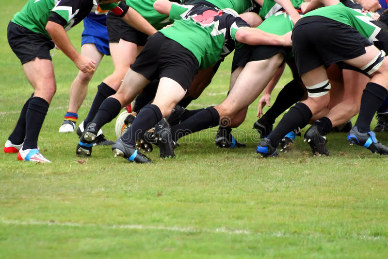 union de bousculade de rugby photo stock