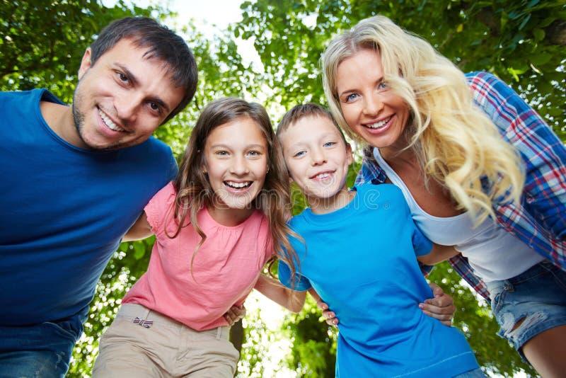 Union de famille image libre de droits