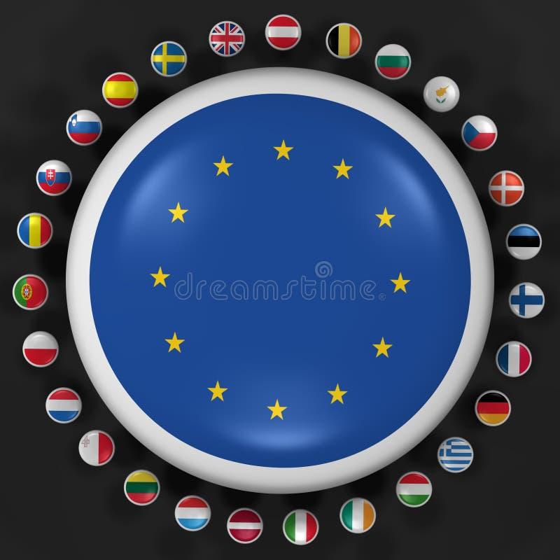 union de haute résolution européenne de symboles illustration stock