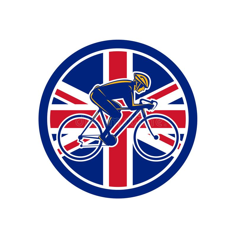 Union de recyclage Jack Flag Icon de cycliste britannique illustration libre de droits