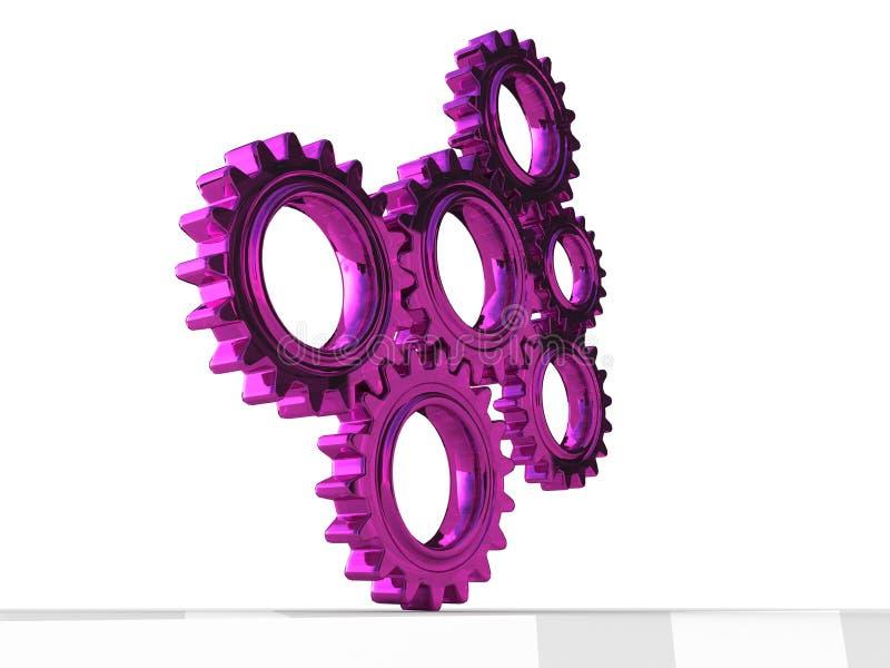 Union de Teeths de roue illustration libre de droits