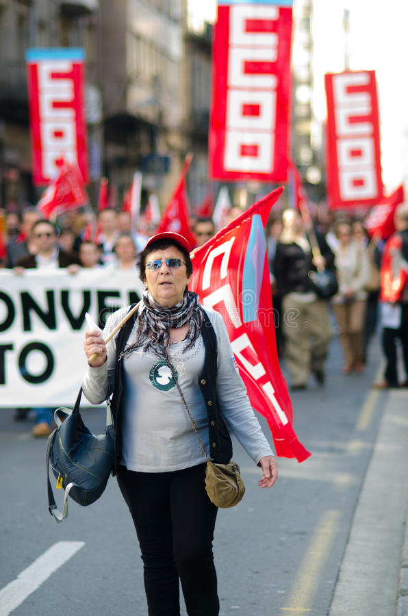 Union Demostration royalty free stock photography