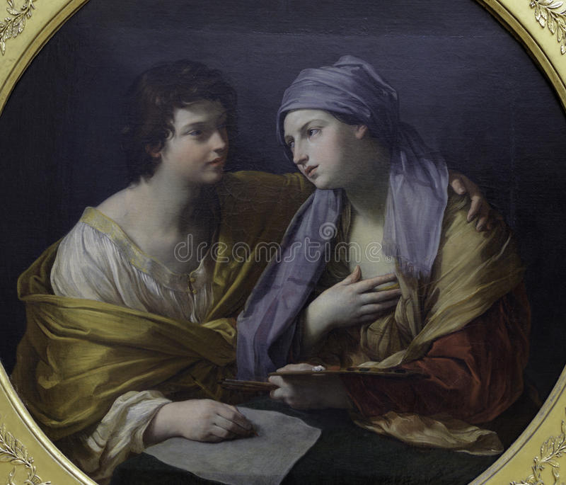 Union of Drawing and Color by Guido Reni royalty free stock photography