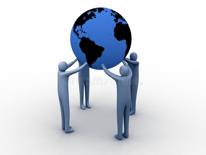 Union du monde illustration stock