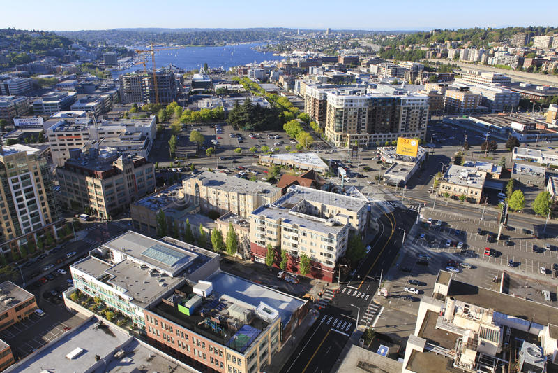 Union du sud de Seattle du centre, lac régionale images libres de droits