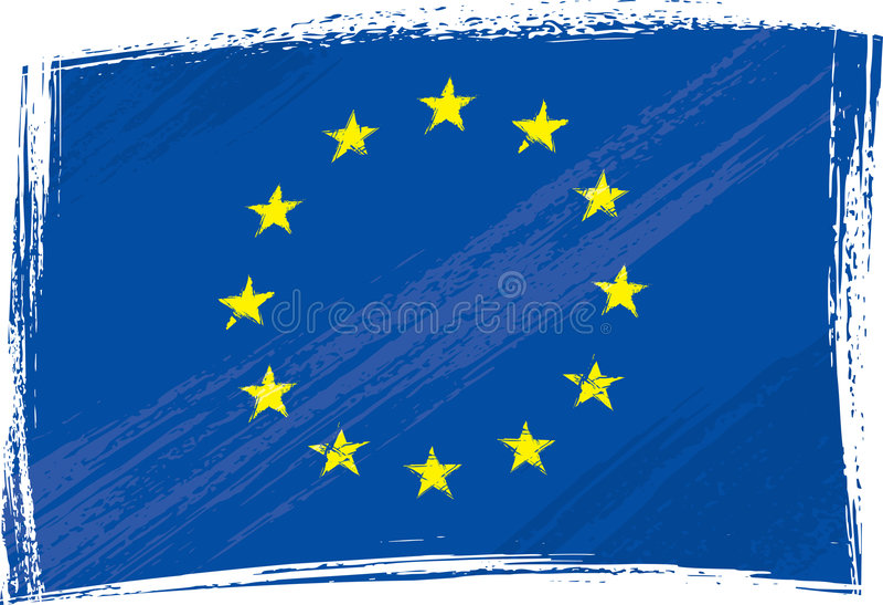 union européenne de grunge d'indicateur illustration stock