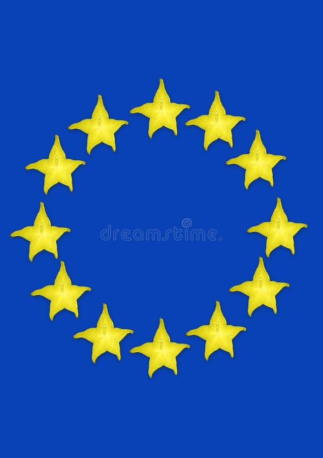 Union europ Conception moderne Collage d'art contemporain illustration stock