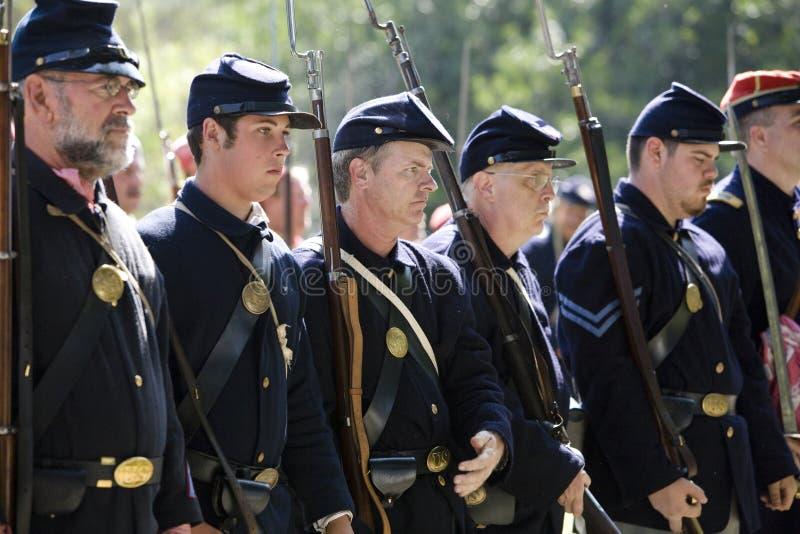 union för 10 soldater för borgerlig enactmenthb kriger beträffande royaltyfria foton