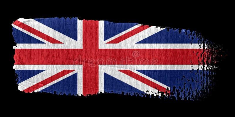 union för penseldragflaggastålar royaltyfri illustrationer