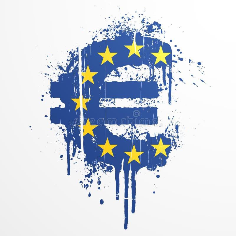 union för splatter för elementeuro europeisk royaltyfri illustrationer