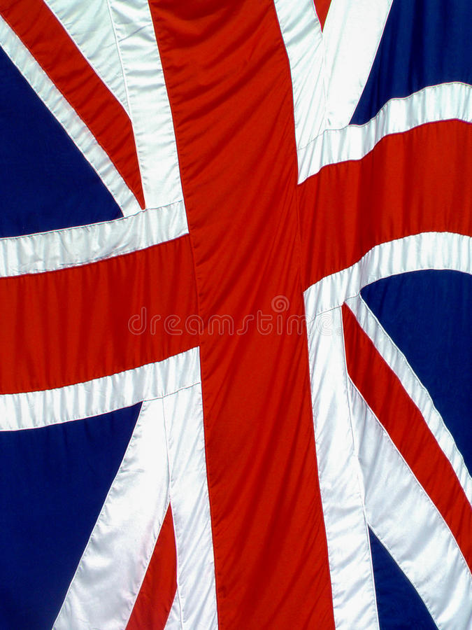 Union Flag - UK. Full frame of a highly textured red, white and blue UK flag known as the Union flag or Union Jack royalty free stock photography