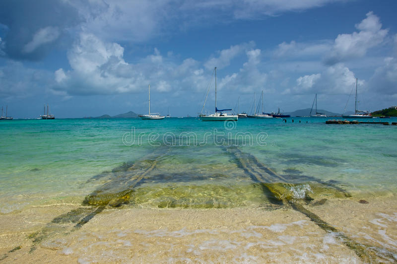Download Union Island Harbor stock photo. Image of boats, relax - 22805766