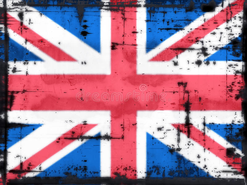 Download Union jack stock illustration. Illustration of flag, messy - 11275767