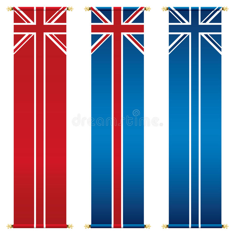 Download Union jack banners stock vector. Image of flag, flagpole - 23518231