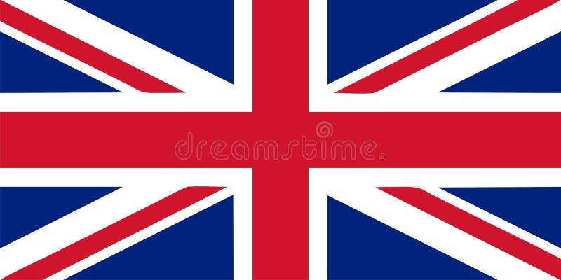 Union Jack - Britse vlag vectorillustratie royalty-vrije illustratie