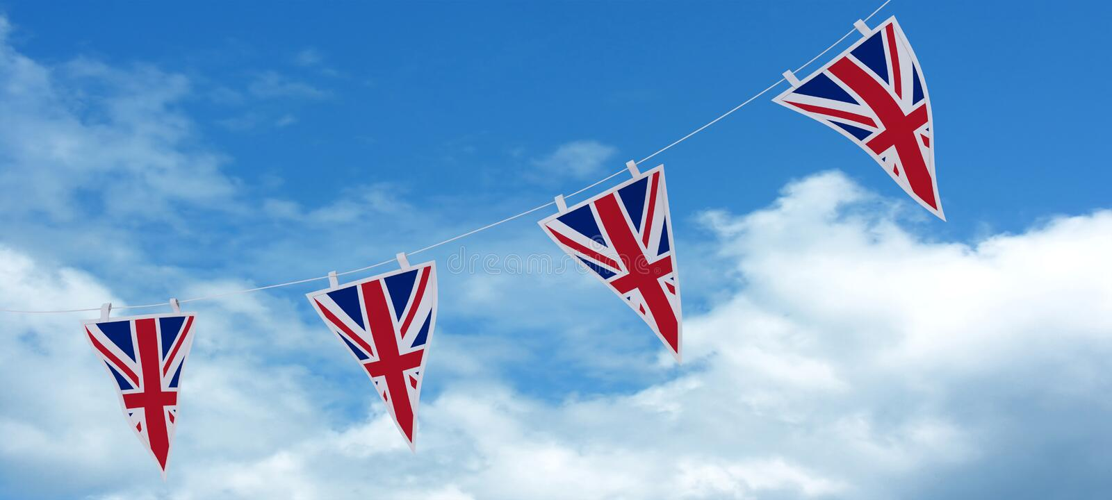 Download Union Jack Bunting And Banners Stock Illustration - Image: 24941892