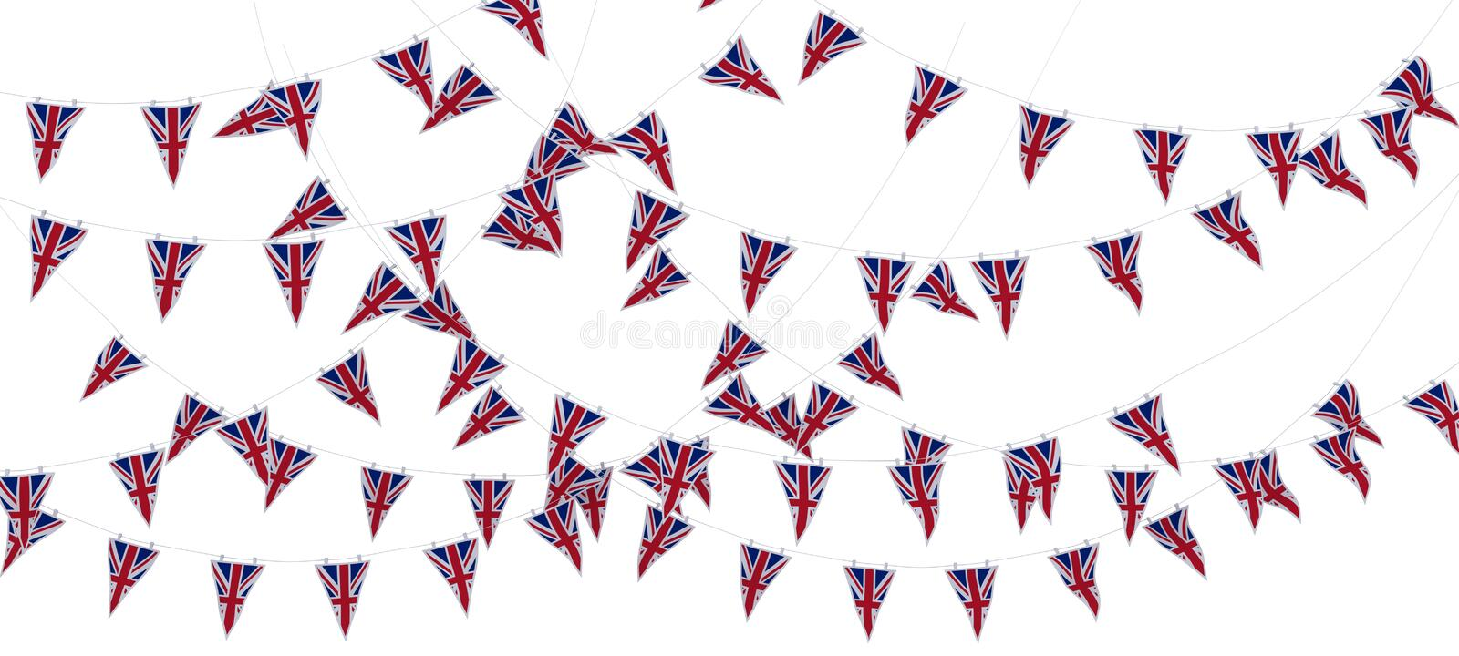 Download Union Jack Bunting And Banners Stock Illustration - Image: 24941893