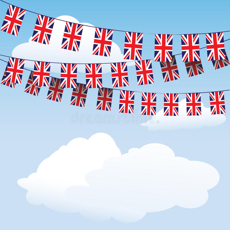 Free Union Jack Bunting Flags Stock Image - 23058511