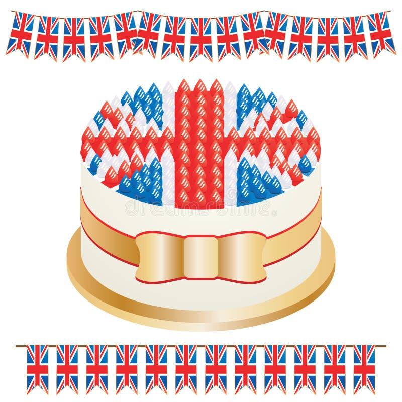 Union jack cake royalty free illustration