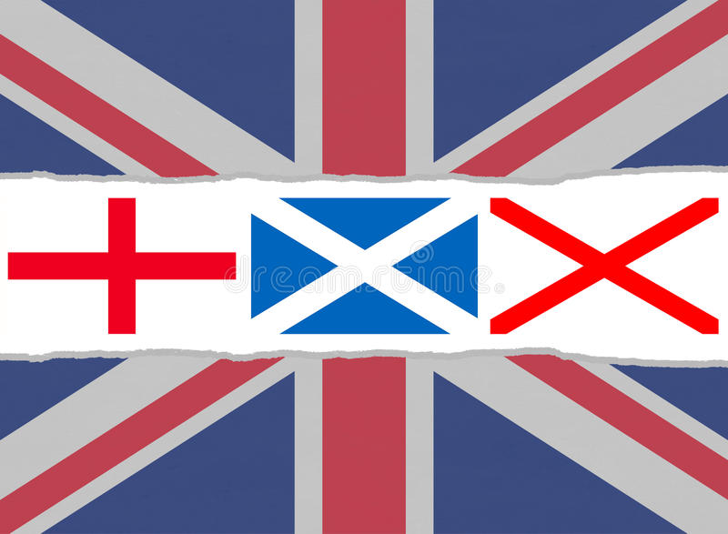 Union Jack Flag From The Flags Of England Scotland And Ireland - Flag of england