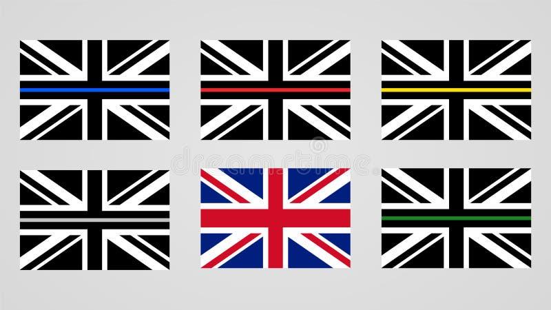 Union Jack flag of the United Kingdom vector illustration