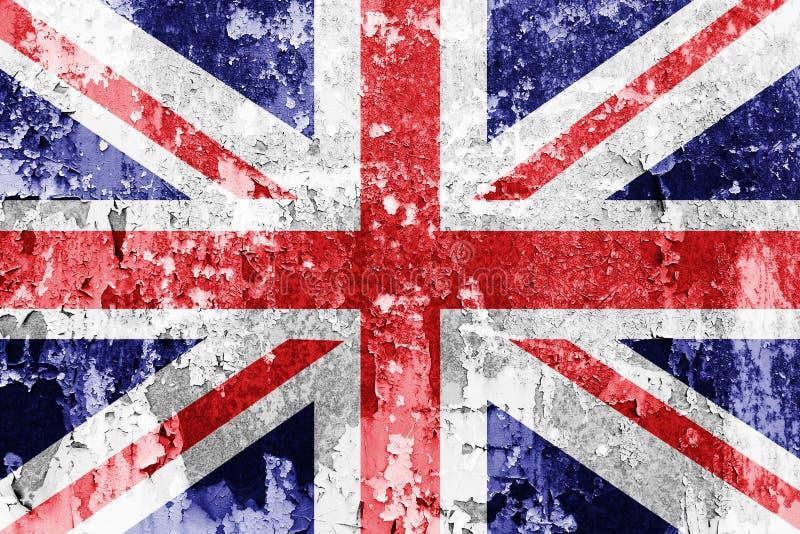 Union Jack flaga royalty ilustracja