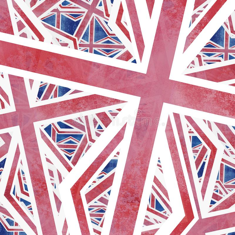 Union Jack flaga kolażu abstrakt royalty ilustracja