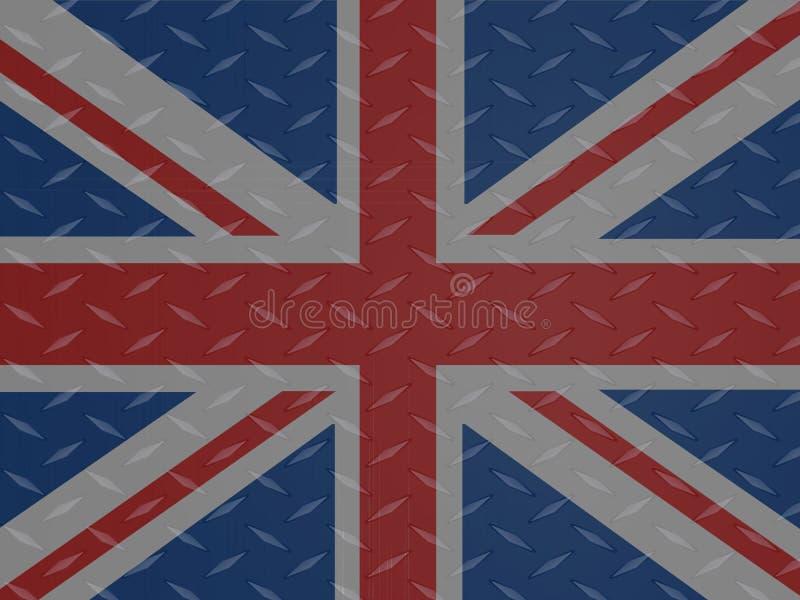 Union Jack flaga nad kruszcowym diamentu talerzem ilustracja wektor