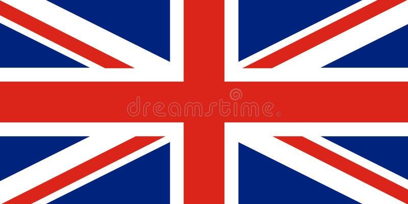 Union Jack Flagge Vereinigten Königreichs Rotes Kreuz auf kombiniertem Rot und w vektor abbildung