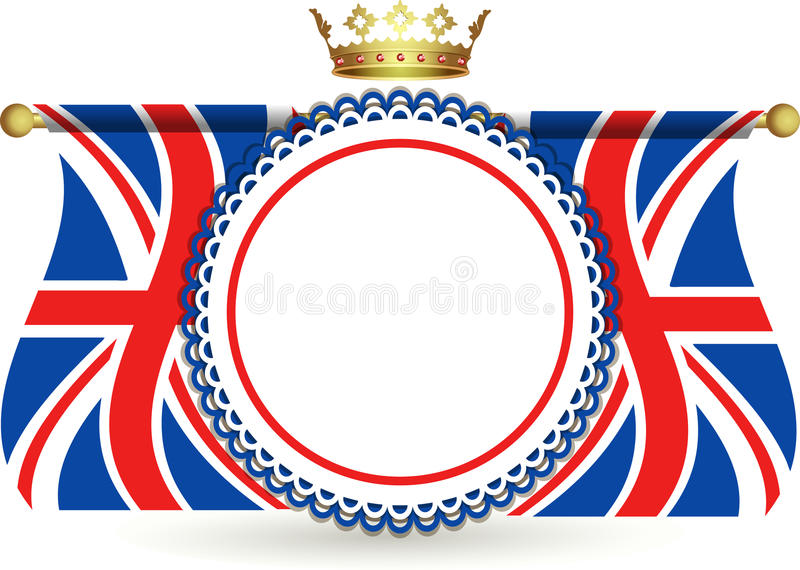 Download Union Jack Flags Crown And Rosette Stock Illustration - Illustration of union, background: 25034863