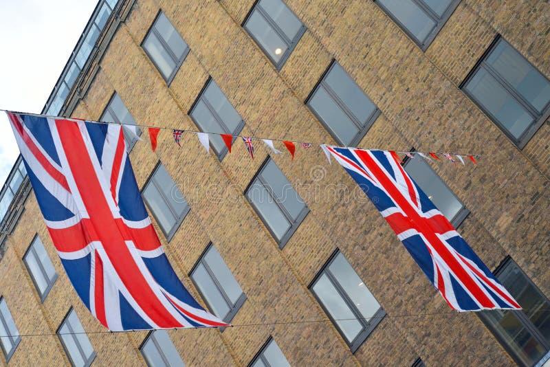 Download Union Jack Flags Hang Across Street Stock Photo - Image: 27325478
