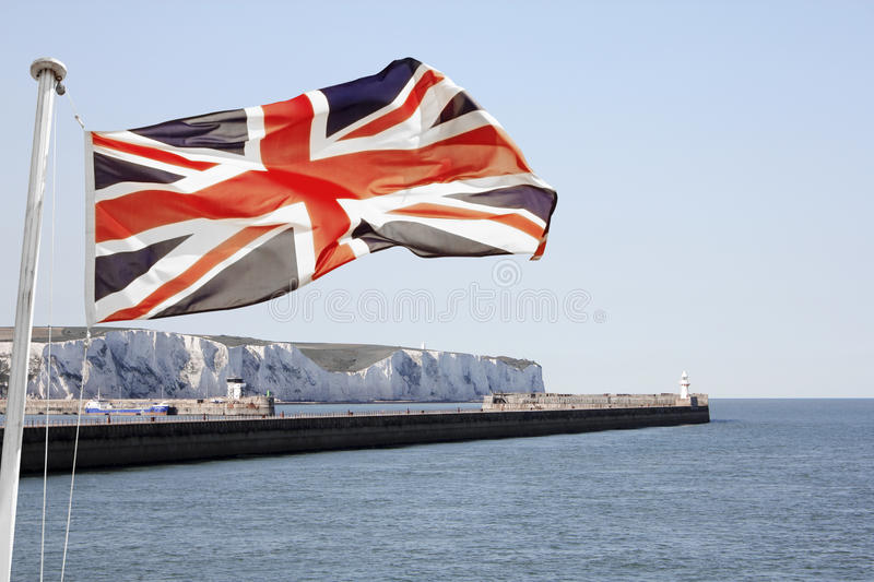 Download Union Jack Flying Over Dover Stock Photo - Image: 27044876