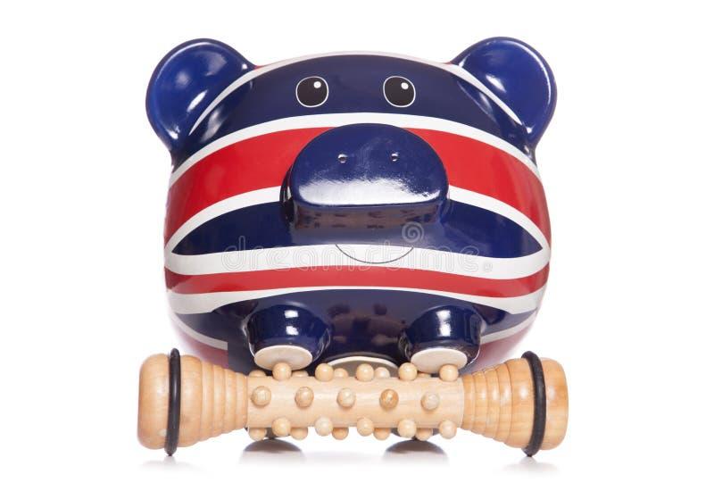 Union Jack-het kuuroordmassage van het spaarvarken royalty-vrije stock fotografie