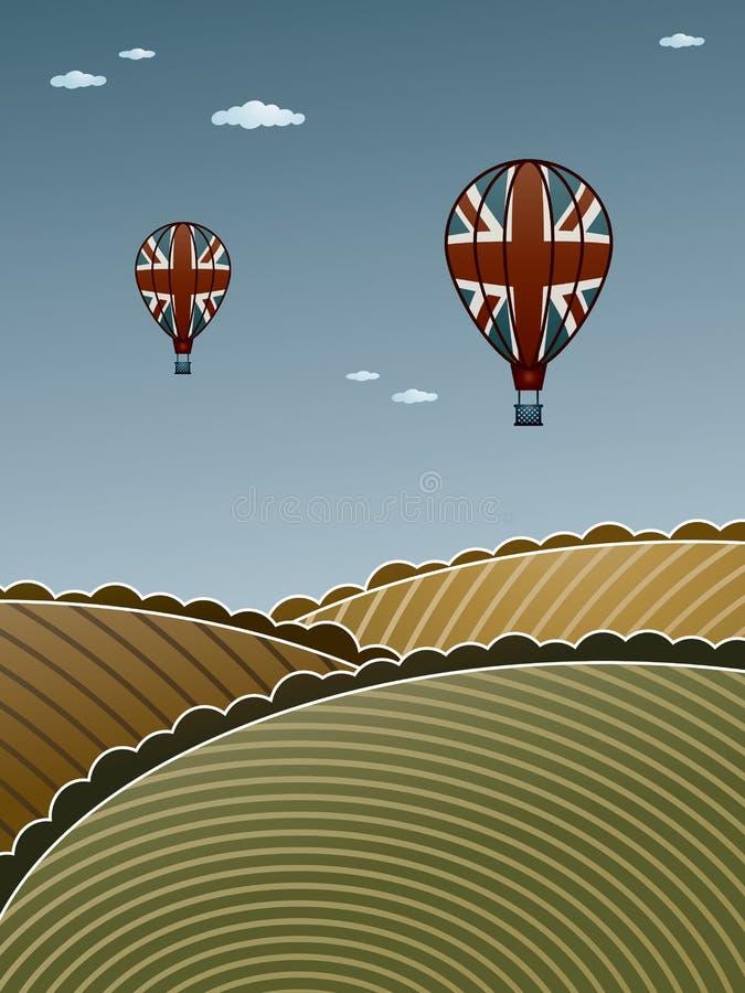 Download Uk hot air balloons stock vector. Illustration of basket - 30025006