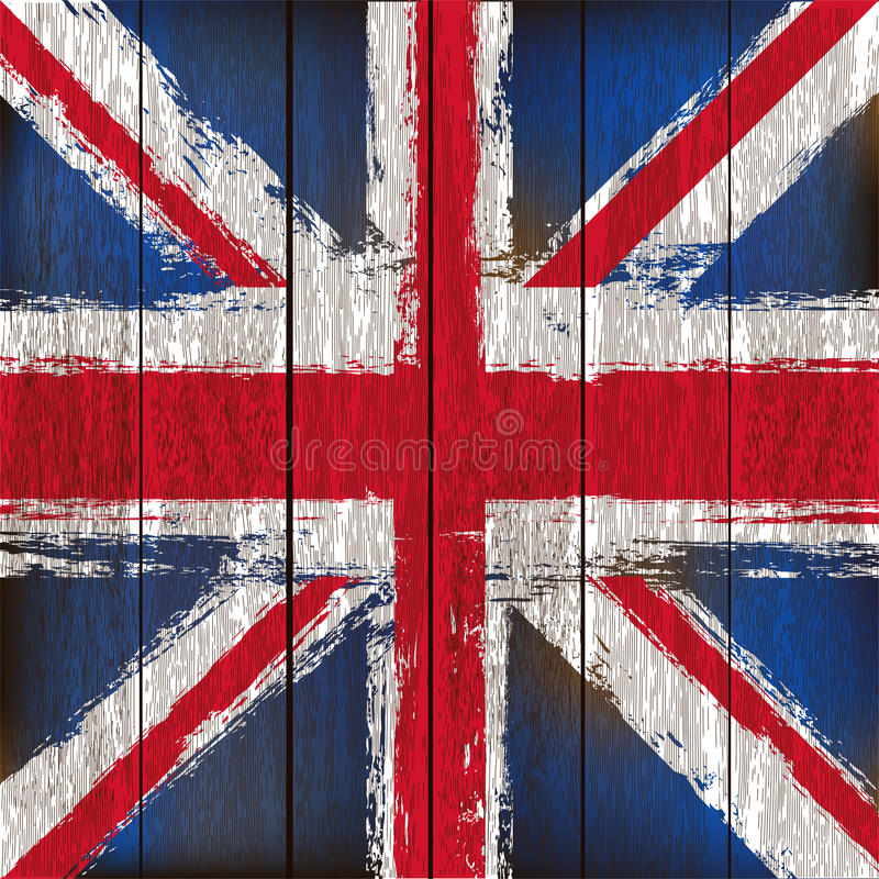Free Union Jack On A Wooden Plank Background Stock Photography - 24884562