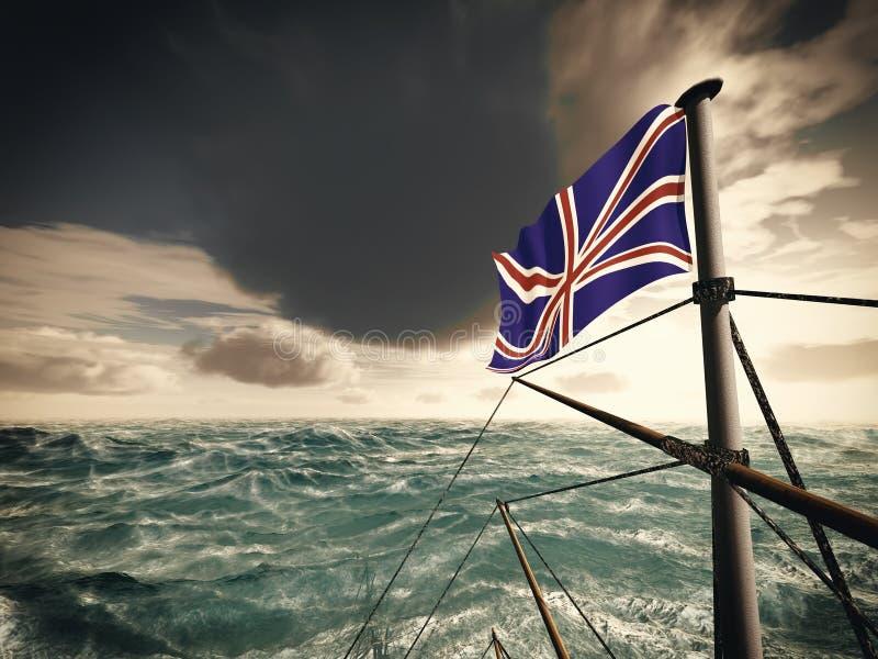 Download Union Jack over oceaan stock afbeelding. Afbeelding bestaande uit overzees - 29501439