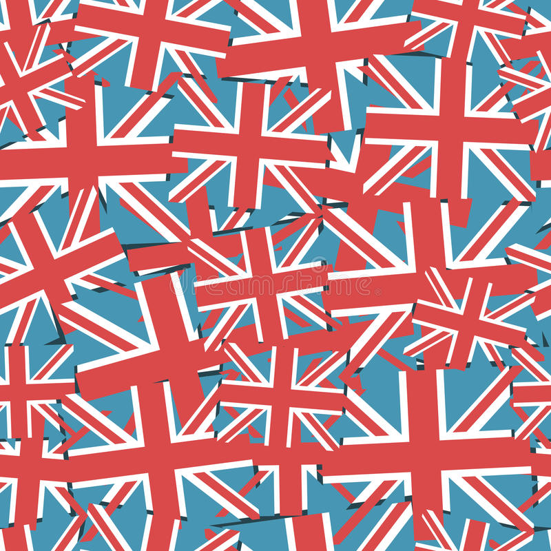 Union jack pattern. Abstract seamless pattern of united kingdom flags vector illustration