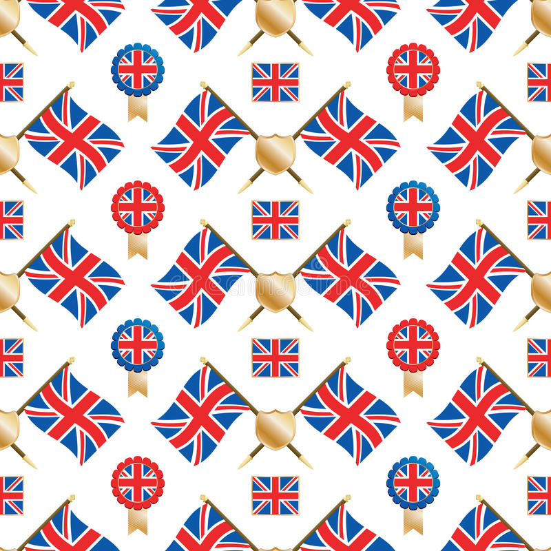 Union Jack Pattern Stock Photo