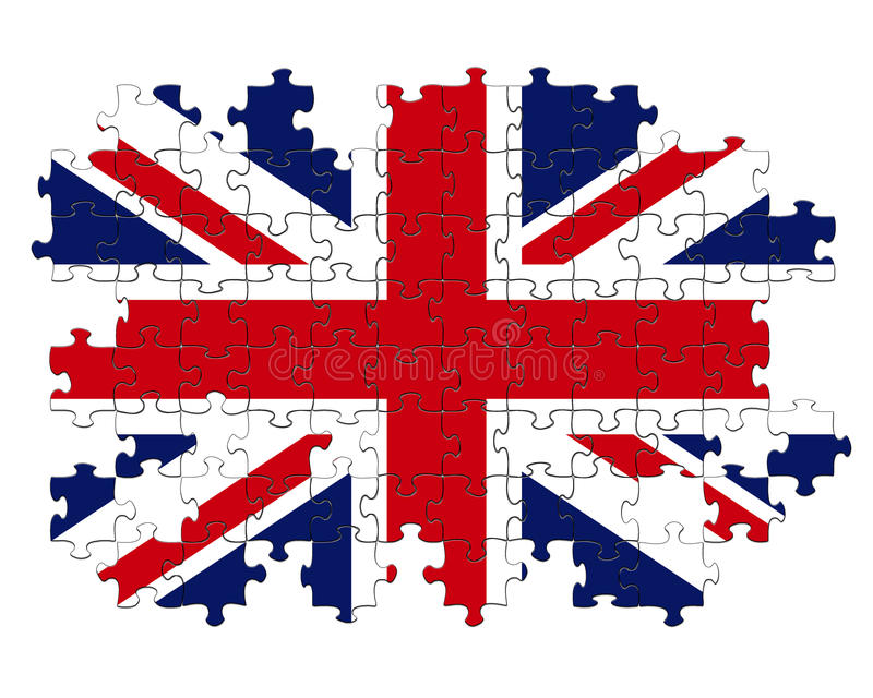 Union Jack pussel vektor illustrationer
