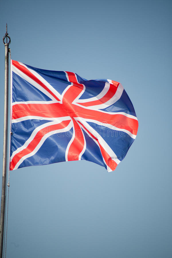 Download Union Jack - UK Flag In The Wind Stock Image - Image: 28672305