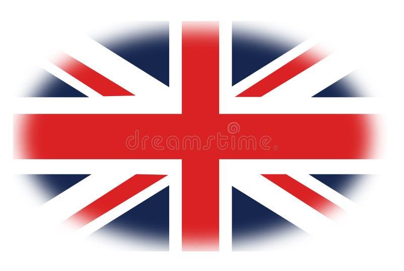 Union Jack, of Unie de Vlag, zijn de nationale vlag van het Verenigd Koninkrijk royalty-vrije illustratie
