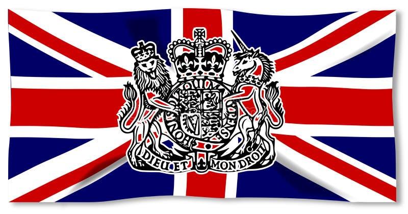 Union Jack Z UK foką ilustracja wektor