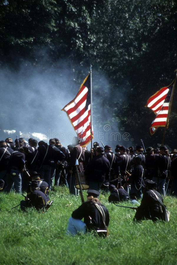 Download Union Line Preparing To Fire Stock Image - Image: 3557501