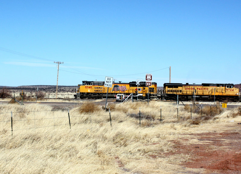 Download Union pacific on route 66 stock photo. Image of prairie - 7708696