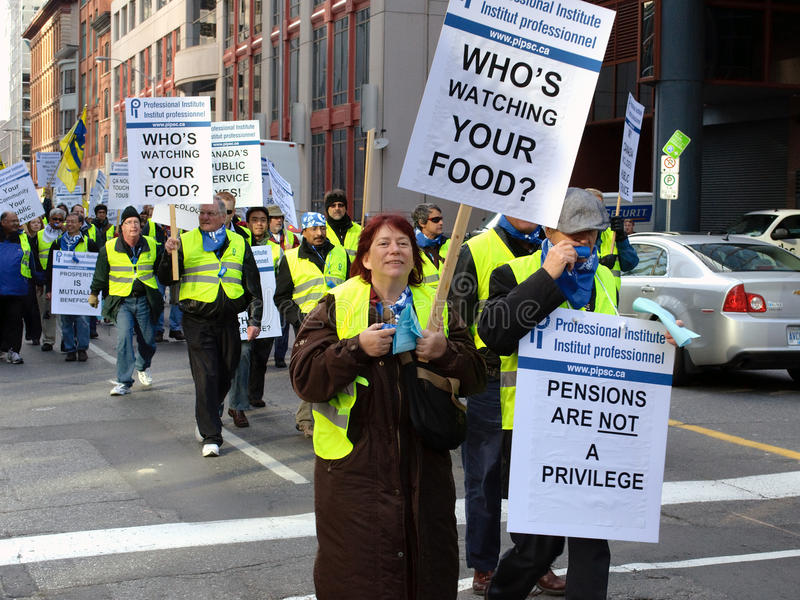 Download Union Protest in Ottawa editorial image. Image of professional - 27715050
