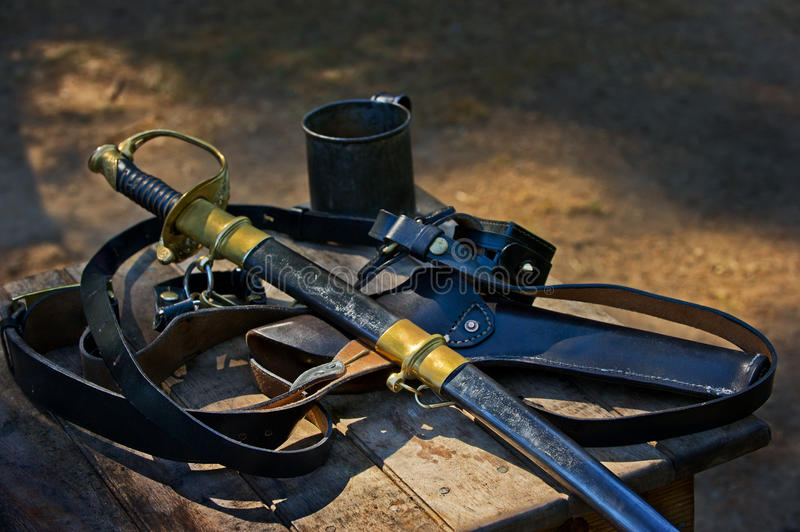 Union solder weapons royalty free stock photography