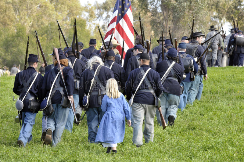 Union Soldiers Marching stock photography