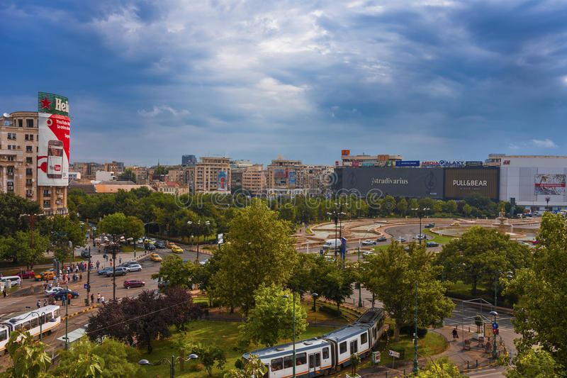 Union Square Bucarest Roumanie images libres de droits
